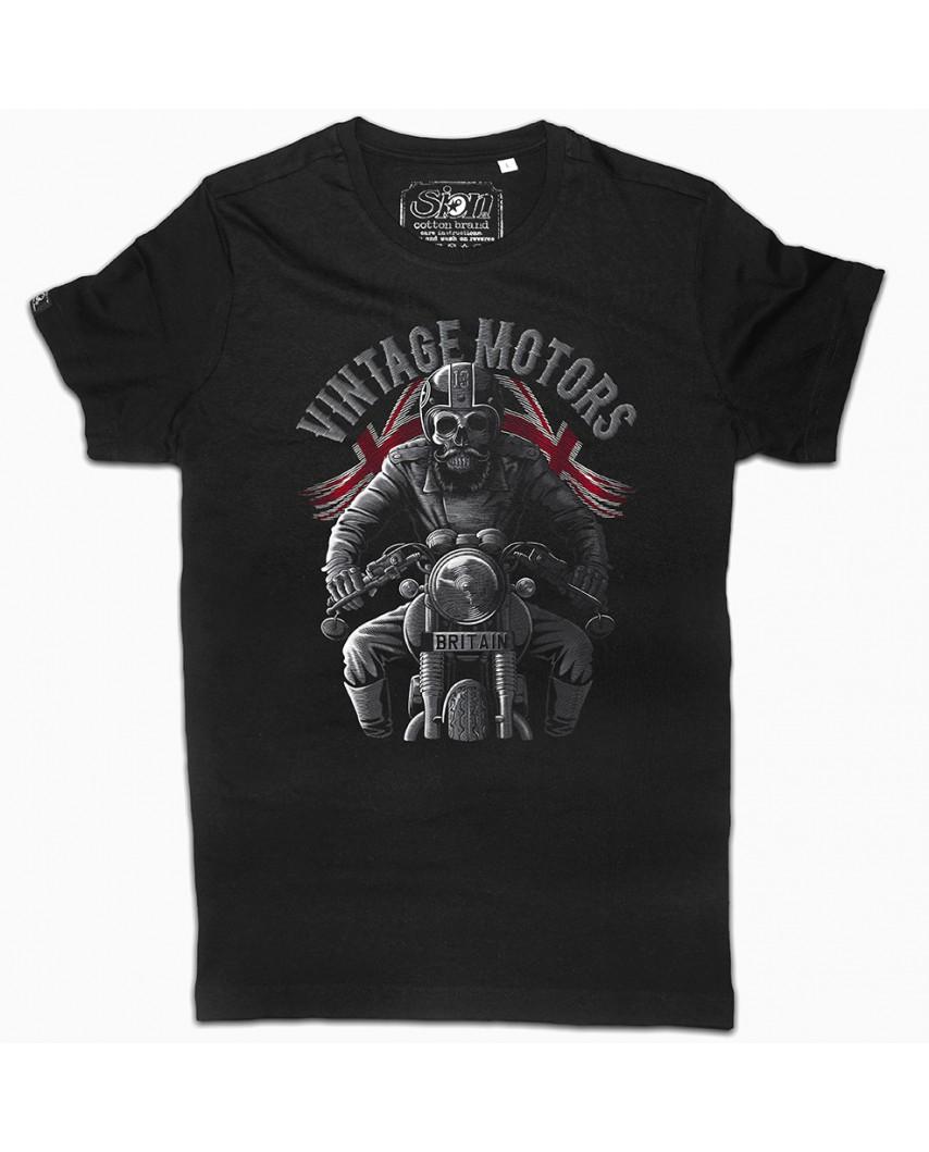 camiseta orgánica britain negra