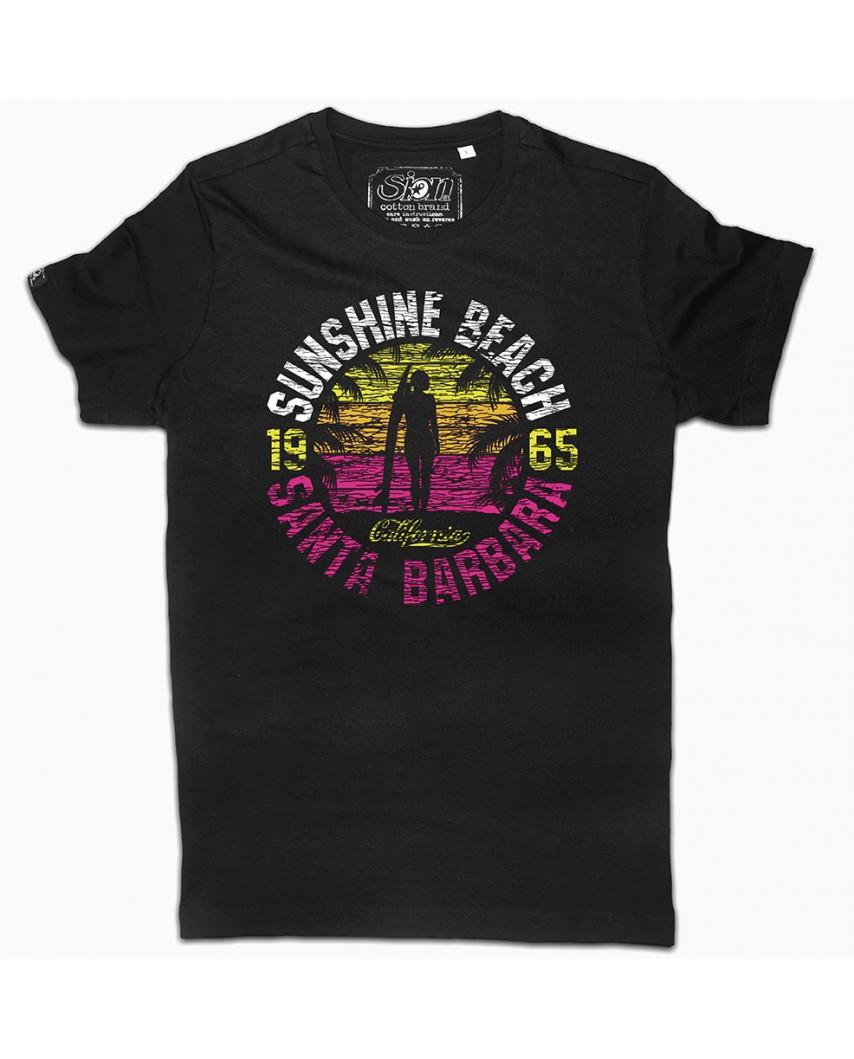 camiseta city orgánica negra santa