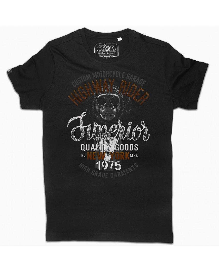 camiseta orgánica custom negra