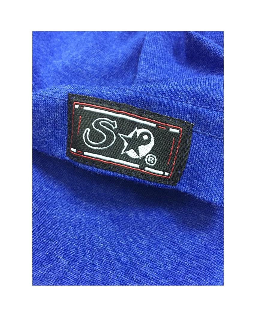 etiqueta manga azul