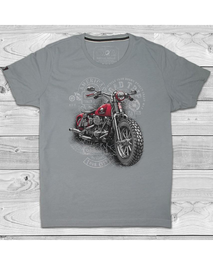 camiseta premium city gris
