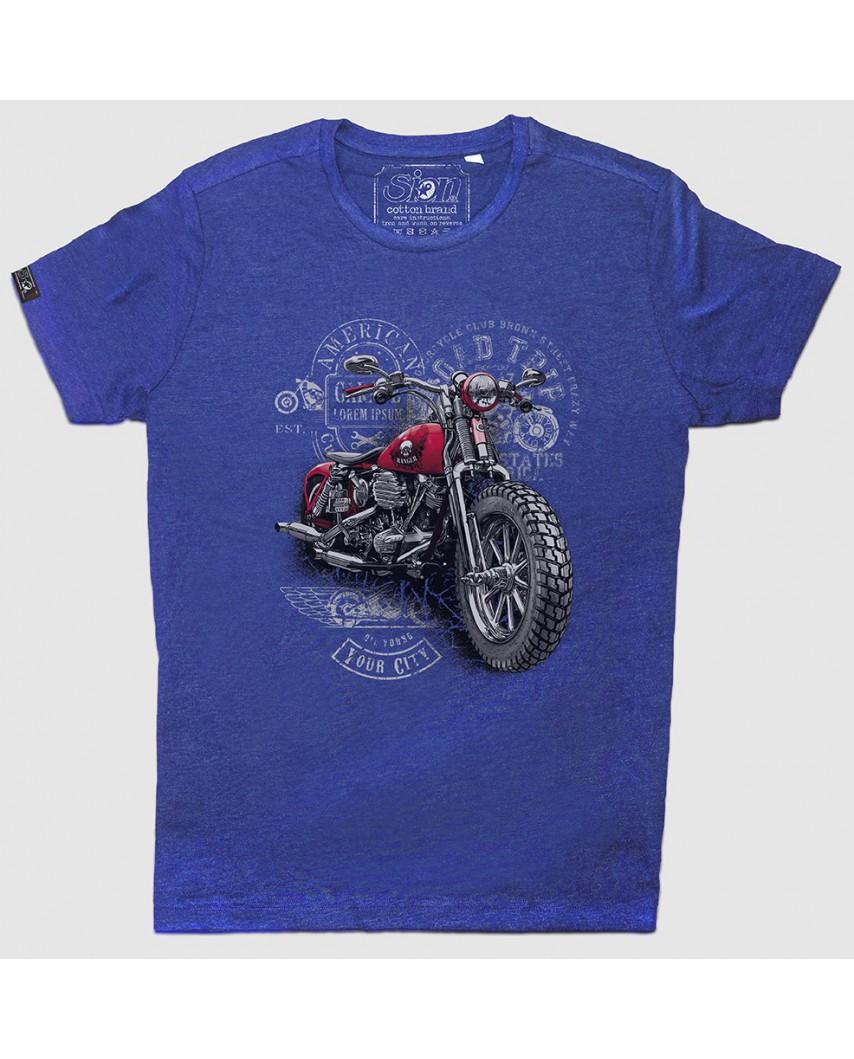 camiseta city orgánica azul