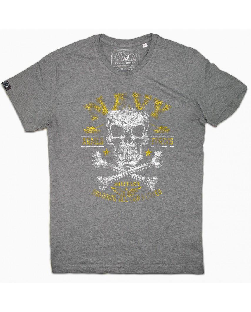 camiseta orgánica navy gris