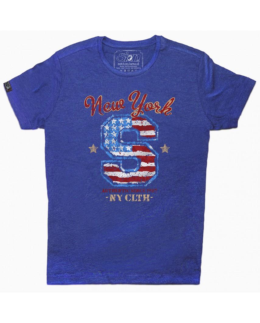 camiseta orgánica since azul