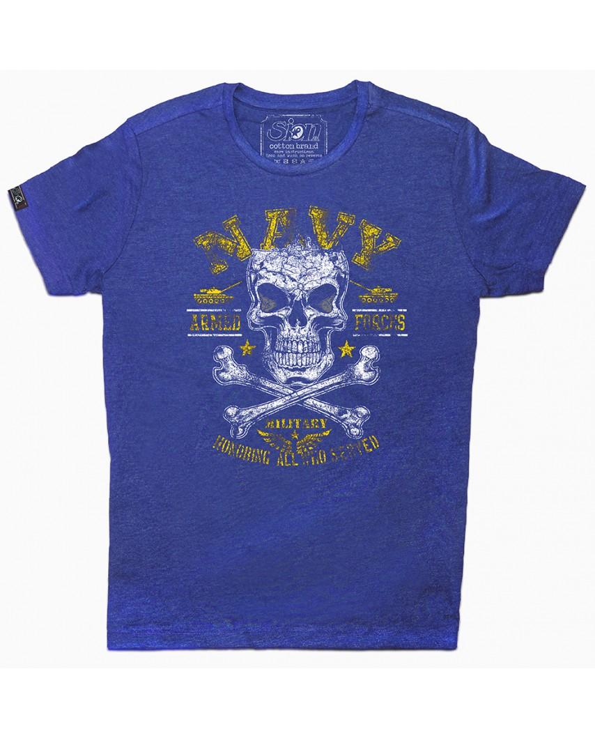 camiseta orgánica navy azul