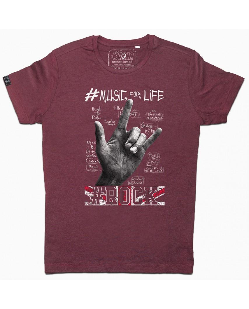 camiseta organica life vino