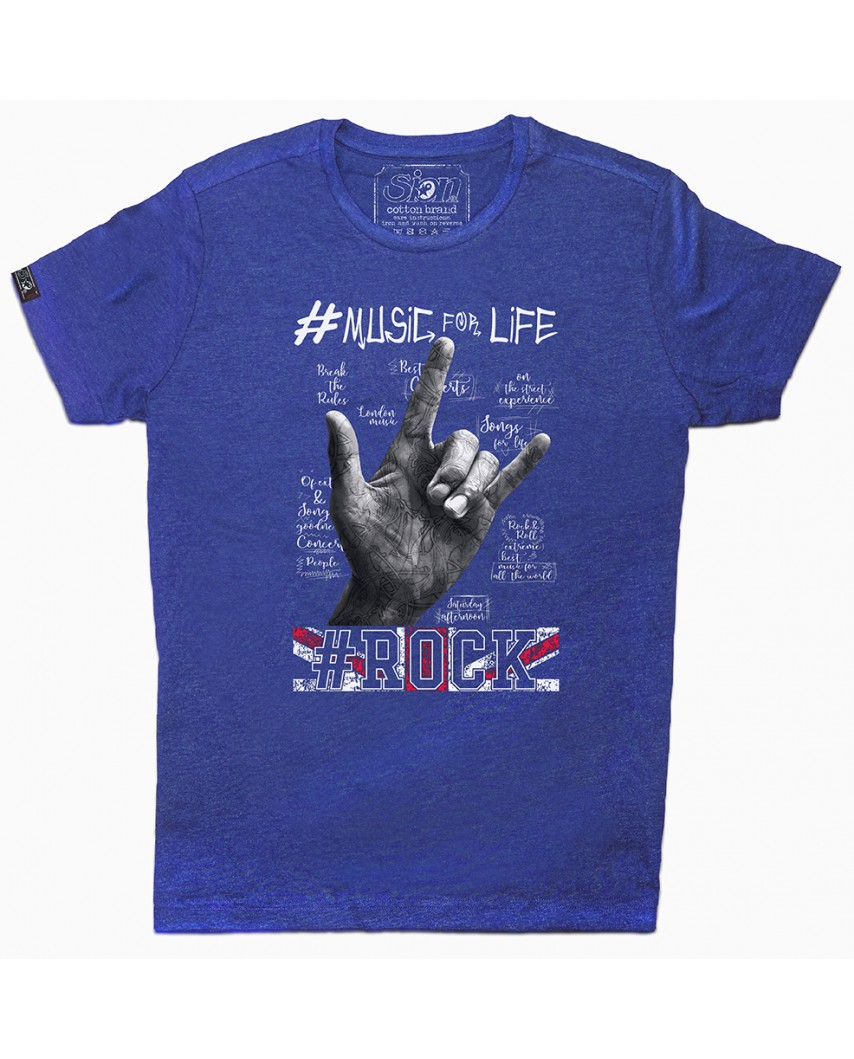 camiseta organica life azul